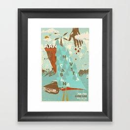 Aan w/ Helvetia & Cabana @ Bunk Bar, Portland, Oregon, February 7th Framed Art Print