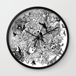 Cerebral Composition One Wall Clock