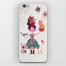 Folk Girl iPhone Skin