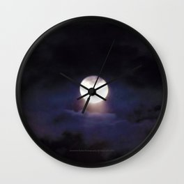 The Moon (Energize Me) - Jeronimo Rubio Photography 2016 Wall Clock