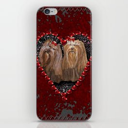 Yorkie Love iPhone Skin