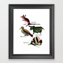 Veggie animals Framed Art Print