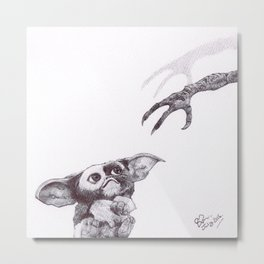Gizmo - Ballpoint Pen Illustration Metal Print