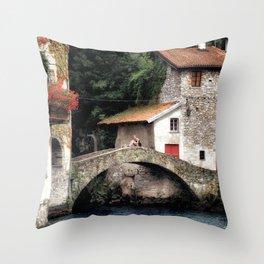 Ponte della Civera Throw Pillow