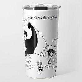 Panda and racoon Travel Mug
