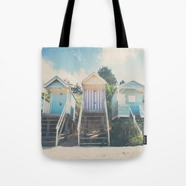 beach huts photograph Tote Bag
