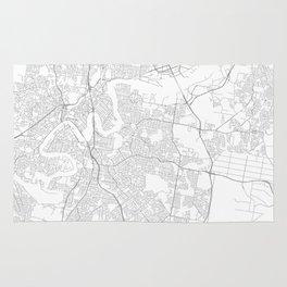 Brisbane, Australia Minimalist Map Rug