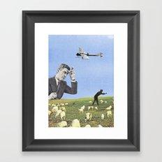 Le mouton noir Framed Art Print