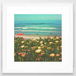 Beachside La Jolla Framed Art Print