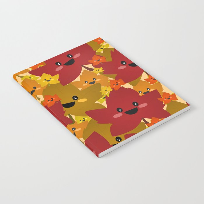 Happy leafy Autumn mess Notebook