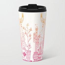 Santa Fe Garden – Pink/Orange Ombré Travel Mug