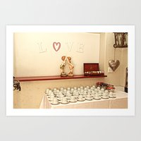 The tea station in love Art Print