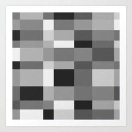 Grayscale Check Art Print