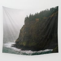 oregon Wall Tapestries featuring Oregon Coast: III // Oregon by Corrie Mick