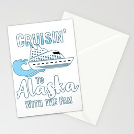 Alaska Family Cruise Matching Cruisin with the Fam graphic Stationery Cards