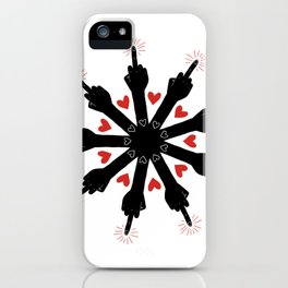 I Love You, But Go Away iPhone Case