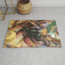 Umberto Boccioni, Elasticity, futurism, abstract painting, modern art, contemporary art, cubism Rug