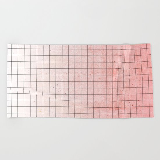 Sweet Pink Geometry Beach Towel