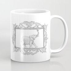 grey frame with elephant Mug