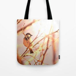Morning sparrow Tote Bag