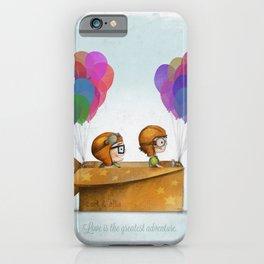 UP Pixar— Love is the greatest adventure  iPhone Case