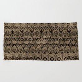 Ethnic Tribal  Pattern on canvas Beach Towel