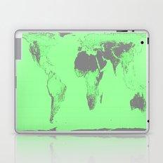 World Map : Gall Peters Seafoam Green Laptop & iPad Skin