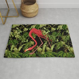 Flamingo Black Rug