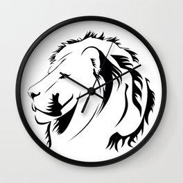 Lionhead Tribiales Wall Clock