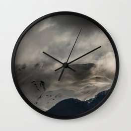 Mountainous terrain Wall Clock