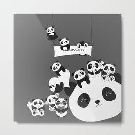 Panda party Metal Print