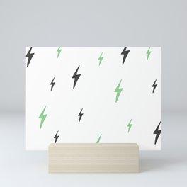 Soft Lightning Bolts Mini Art Print