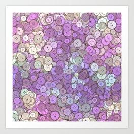 buttons fantasy pink hills Art Print