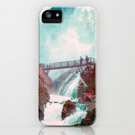 Vintage Niagara Falls Three - 1900 iPhone Case