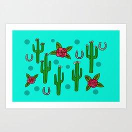 Cactus Rose in The Desert Art Print