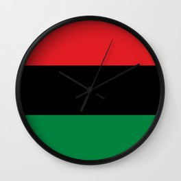 flag of Pan-Africanism or Unia Wall Clock