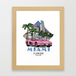 Miami, bedrock of diversity! Framed Art Print