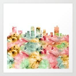 Fort Worth Skyline Texas Art Print