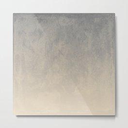 Gradient textured background blue gray beige tones Metal Print