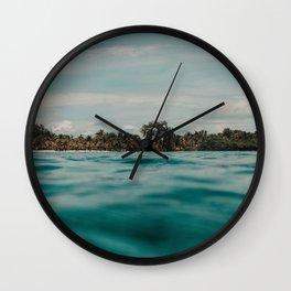 Shipwrecked Ocean Blues Wall Clock