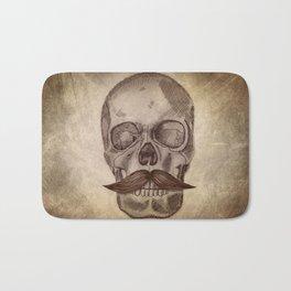 Skull Mustache Bath Mat