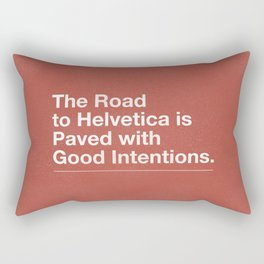The Road to Helvetica Rectangular Pillow