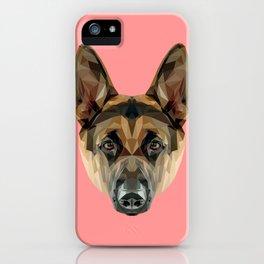 German Shepherd // Pink iPhone Case