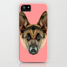 German Shepherd // Pink iPhone Case