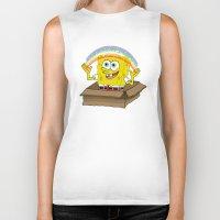 spongebob Biker Tanks featuring spongebob squarepants imagination by aceofspades81