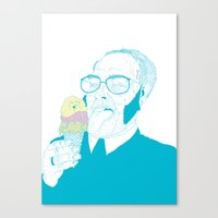 ice cream Canvas Prints featuring ice cream by bEn HaYwArD