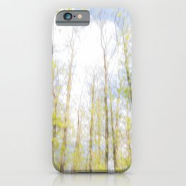 Colorful trees photography - Watercolor series #2 iPhone Case