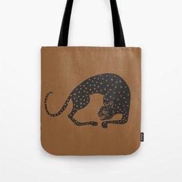 Blockprint Cheetah Tote Bag