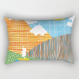 House in the Hills Rectangular Pillow