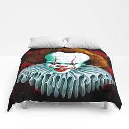 The Dancing Clown - Pennywise IT - Vector - Stephen King Character Comforters